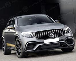 Обвес 63 AMG Mercedes GLC Coupe C253 черные насадки