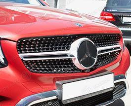 Решетка радиатора 43 AMG Mercedes GLC Coupe C253 серебро